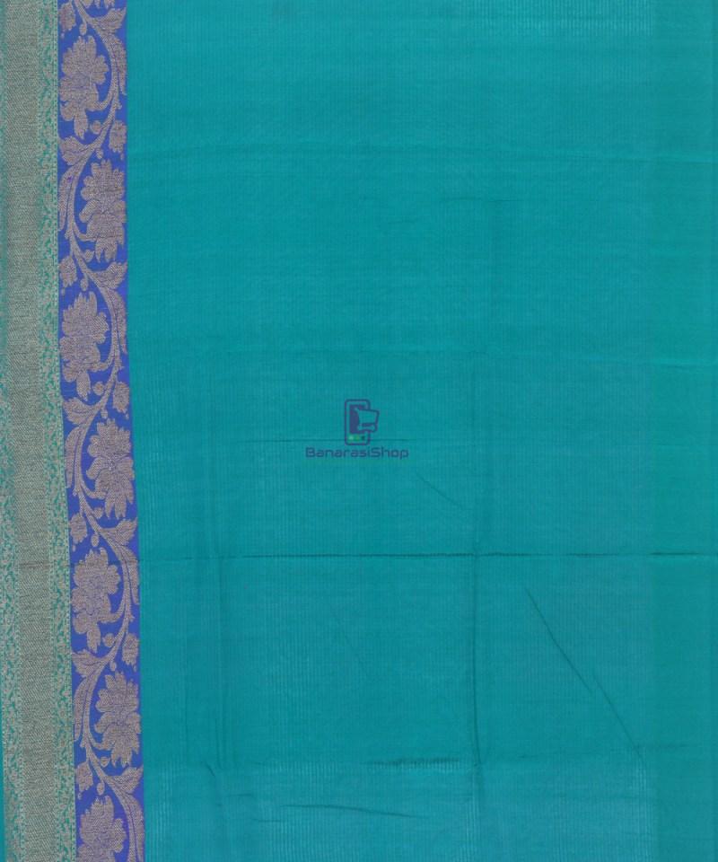 Banarasi Pure Handloom Dupion Silk Fuschia Pink Saree 4