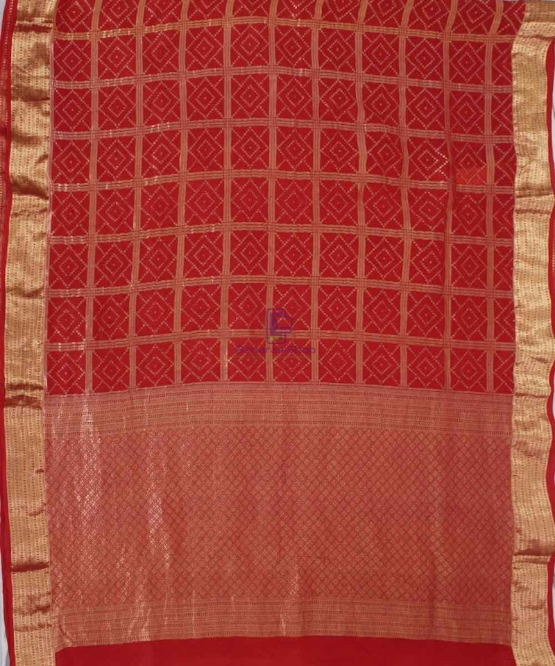Pure Banarasi Muga Silk Handloom Saree in Brick Brown 1