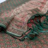 Handwoven Tanchoi Banarasi  Silk Stole in Ash Rose 7