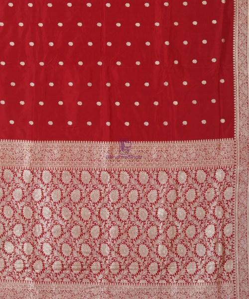 Banarasi Pure Katan Silk Handloom Red Saree 5