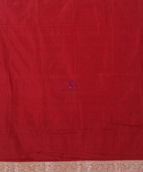 Banarasi Pure Katan Silk Handloom Red Saree 6