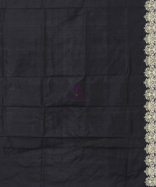 Banarasi Pure Katan Silk Handloom Jet Black Saree 6