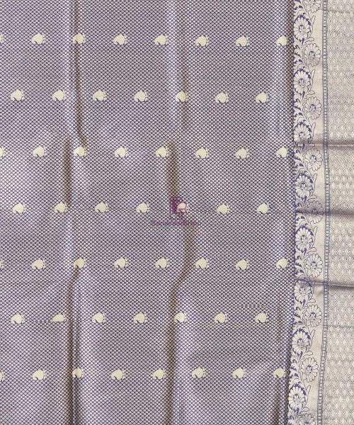 Banarasi Pure Katan Silk Handloom Blue Silk Saree 6