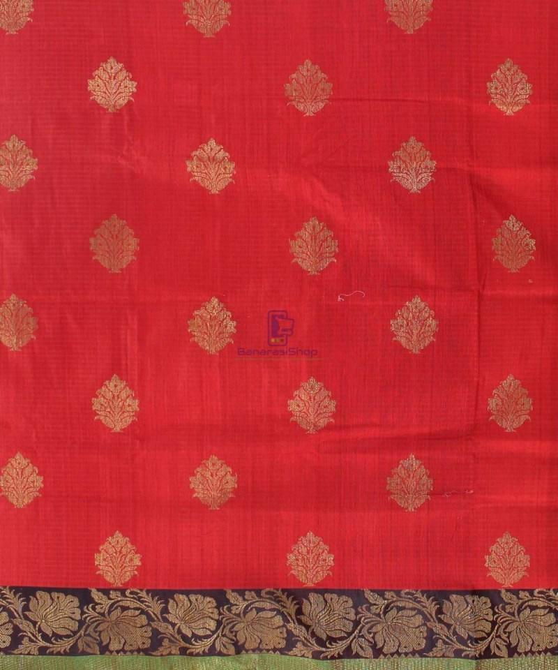 Banarasi Pure Handloom Dupion Silk Red Saree 2