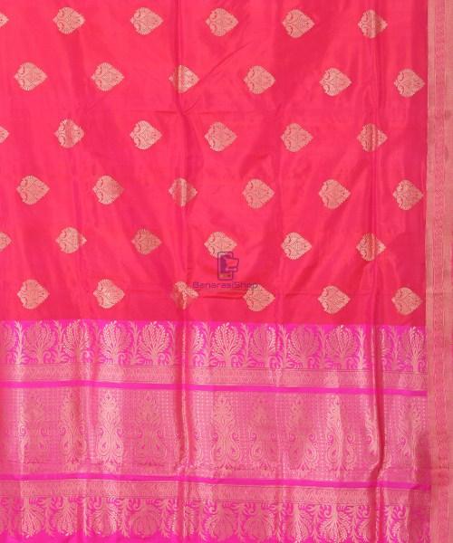 Banarasi Pure Katan Silk Handloom Silk Red Saree 5