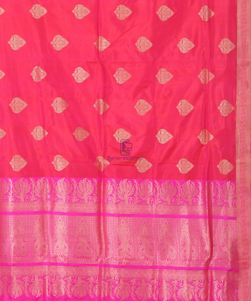 Banarasi Pure Katan Silk Handloom Silk Red Saree 2