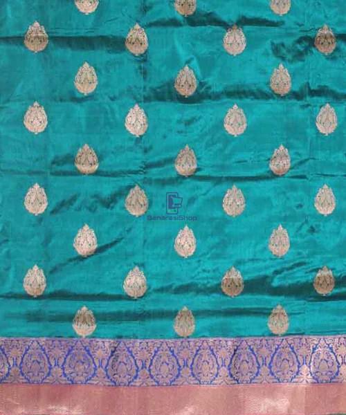 Banarasi Pure Katan Silk Handloom Green Saree 4
