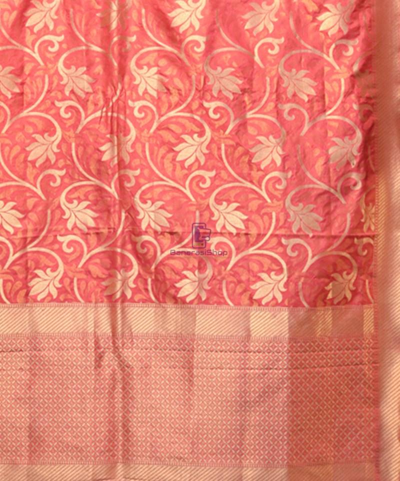 Handwoven Pure Banarasi Uppada Silk Candy Red Saree 2