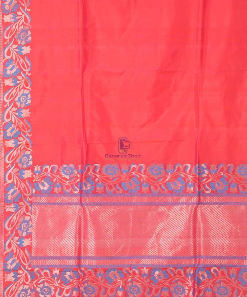 Banarasi Pure Katan Silk Handloom Red Saree 1