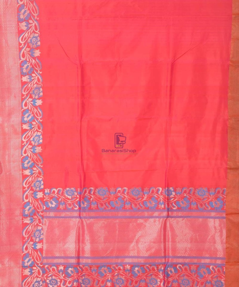 Banarasi Pure Katan Silk Handloom Red Saree 3