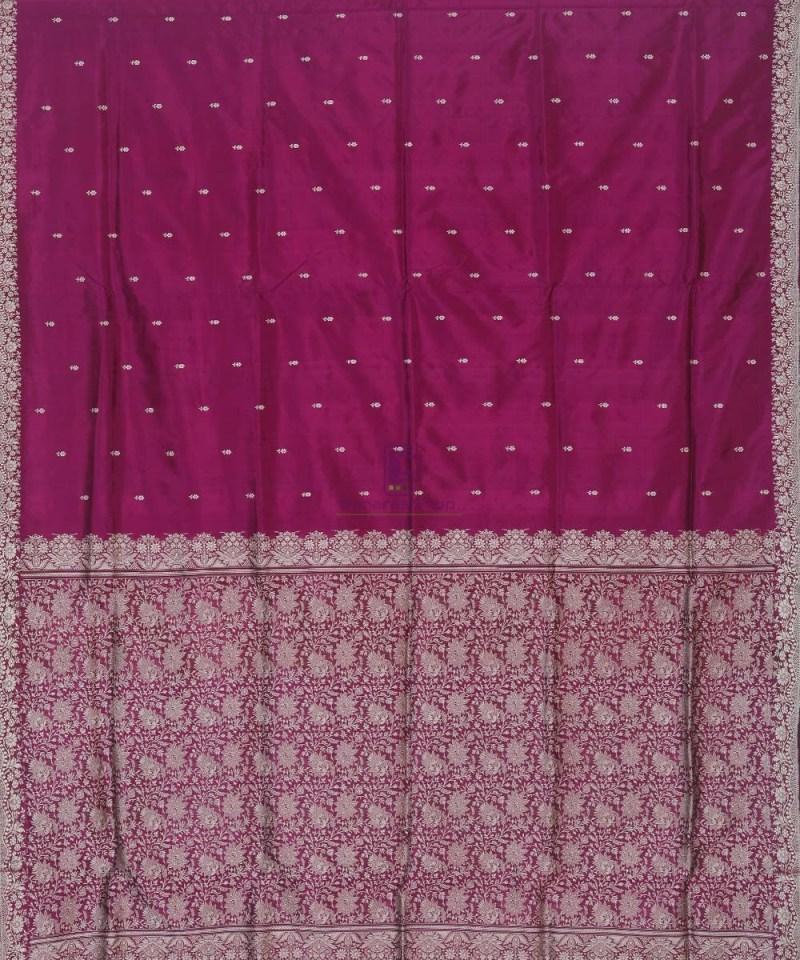 Banarasi Handloom Wine Purple Katan Saree 2