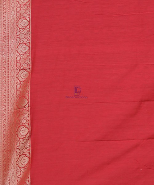 Pure Banarasi Tussar Handwoven Cloud Grey Silk Saree 6