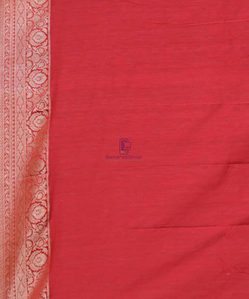 Pure Banarasi Tussar Handwoven Cloud Grey Silk Saree 3