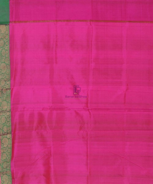 Banarasi Pure Handloom Lime Green Katan Silk Saree 7