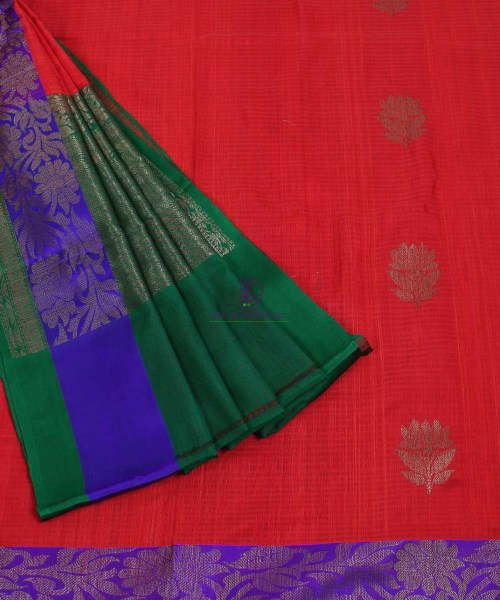 Banarasi Pure Handloom Dupion Silk Red Saree 5