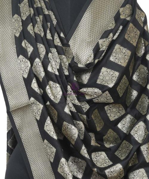 Banarasi Handloom Black Dupatta 4