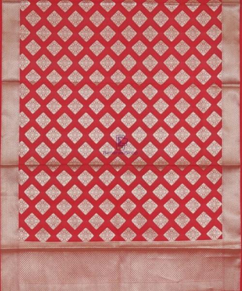 Handloom Banarasi Crimson Red Dupatta 5