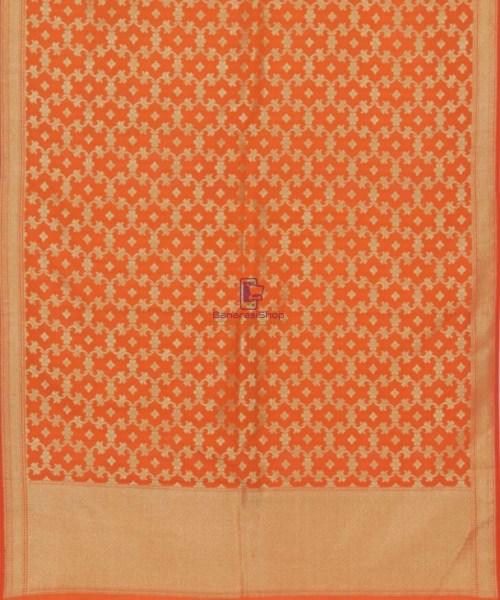 Tiger Orange Banarasi Handloom Dupatta 5