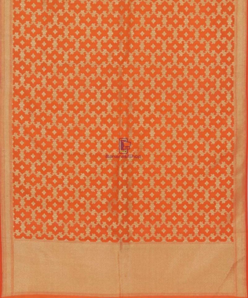 Tiger Orange Banarasi Handloom Dupatta 3