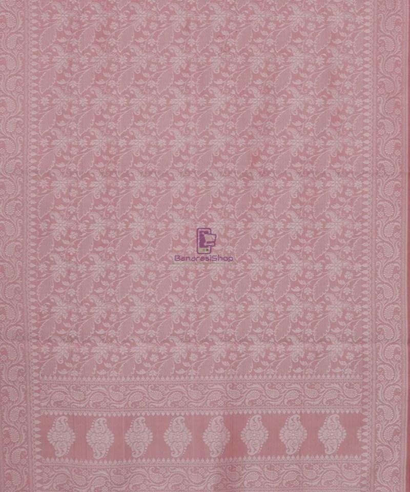 Handloom Banarasi Tanchoi Rose Pink Stole 3