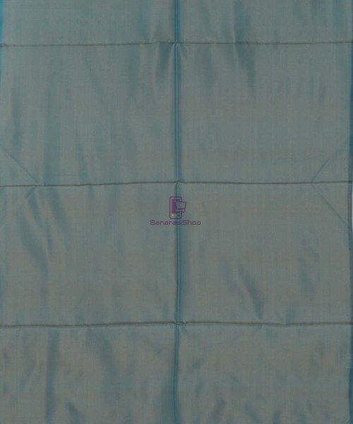 Handloom Banarasi Sapphire Blue Stole 5