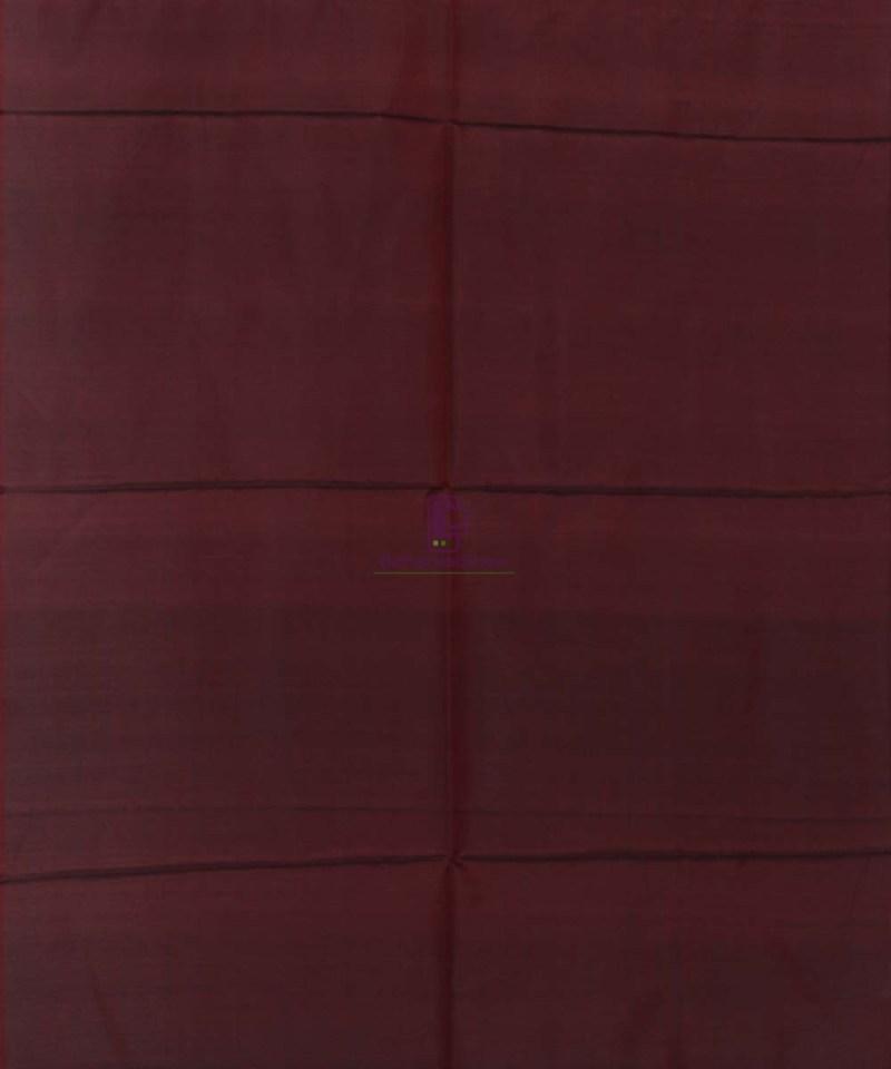 Handloom Banarasi Tanchoi Wine Red Stole 3