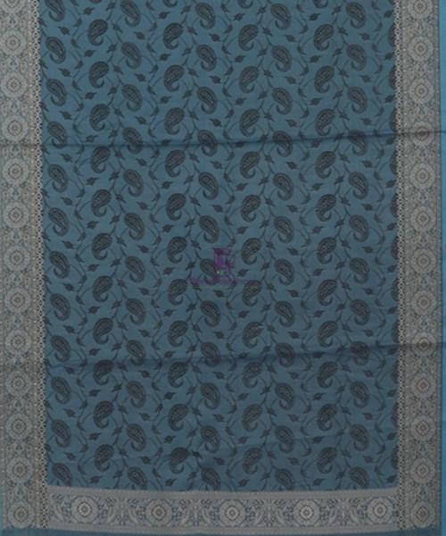 Blue Handloom Banarasi Tanchoi Stole 5