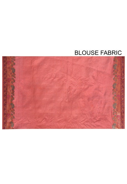 Pure Tussar Silk Banarasi Saree in Maroon 6