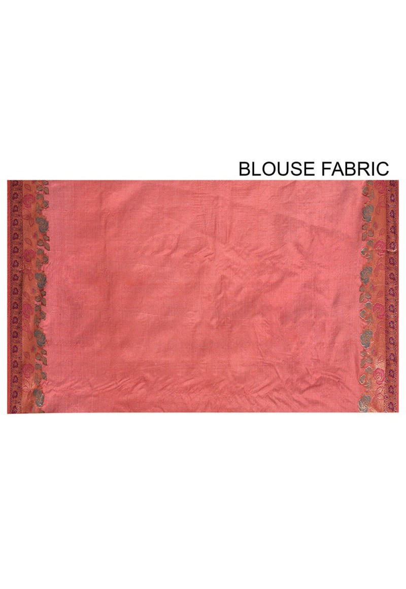 Pure Tussar Silk Banarasi Saree in Maroon 3