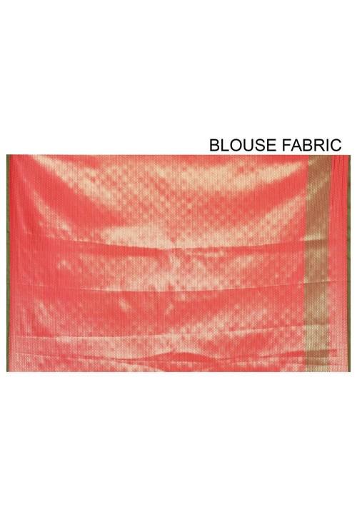 Woven Banarasi Art Silk Saree in Red 6
