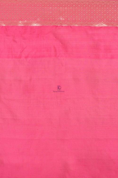 Pure Silk Banarasi Dupion Katan Handloom Saree in Blue 3