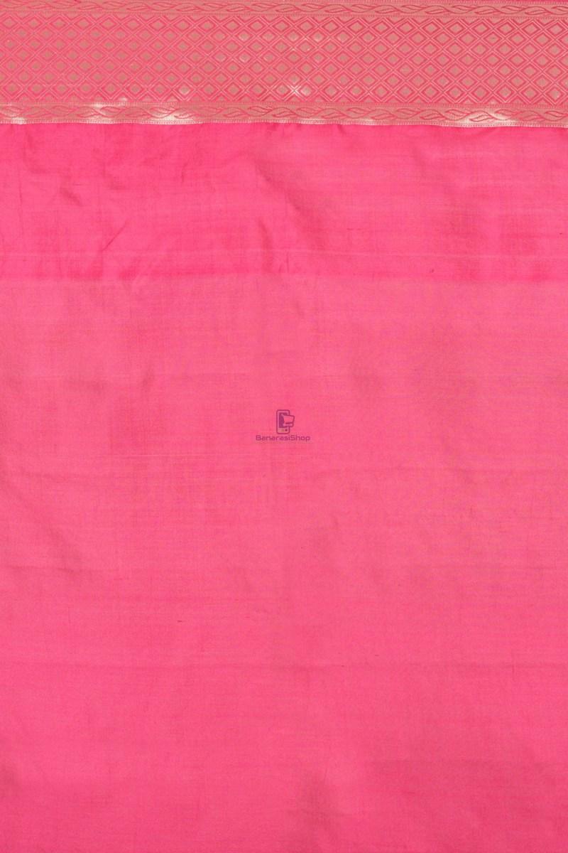 Pure Silk Banarasi Dupion Katan Handloom Saree in Blue 2