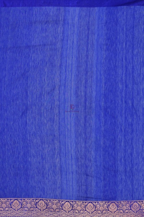 Pure Banarasi Tussar Handwoven Purple Silk Saree 3