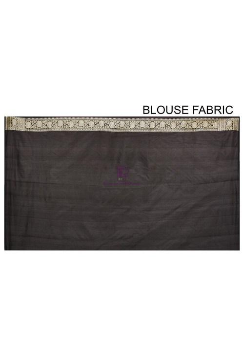 Pure Banarasi Katan Silk Handloom Saree in Black 7