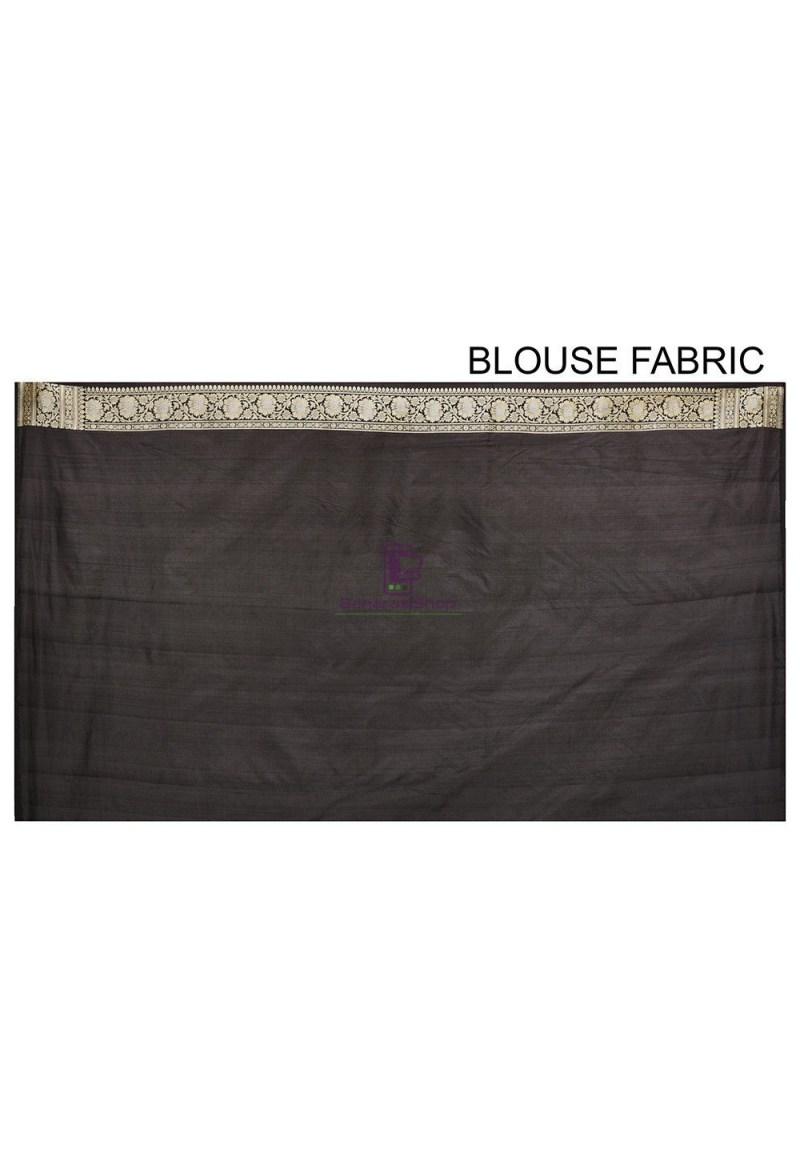 Pure Banarasi Katan Silk Handloom Saree in Black 3