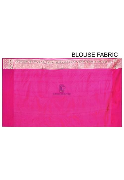 Pure Banarasi Katan Silk Handloom Saree in Pink 6