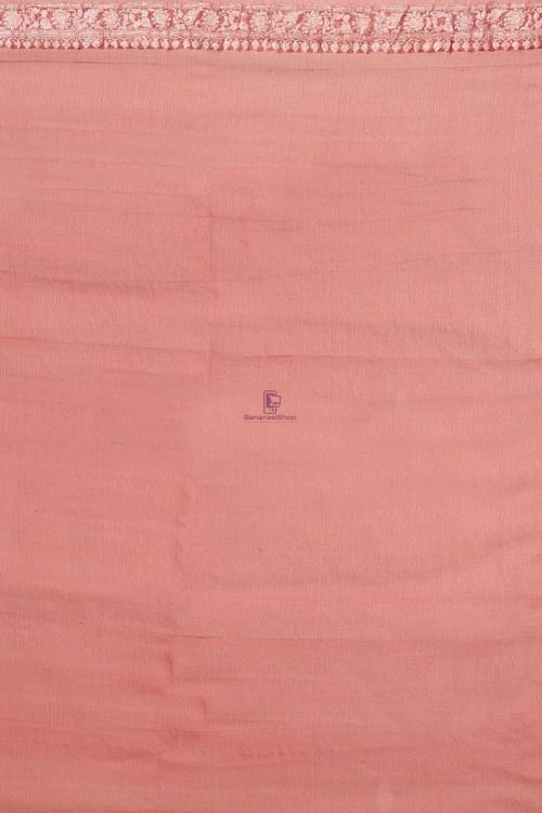 Pure Banarasi Handloom Khaddi Georgette Silk Saree with Unstitched Blouse Fabric 7
