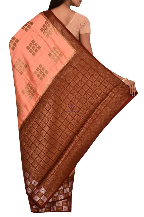 Banarasi Dupion Silk Saree with Unstitched Blouse Fabric 5