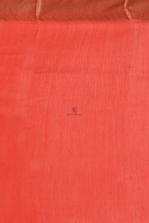 Pure Woven Banarasi Muga Silk Saree with Unstitched Blouse Fabric 7