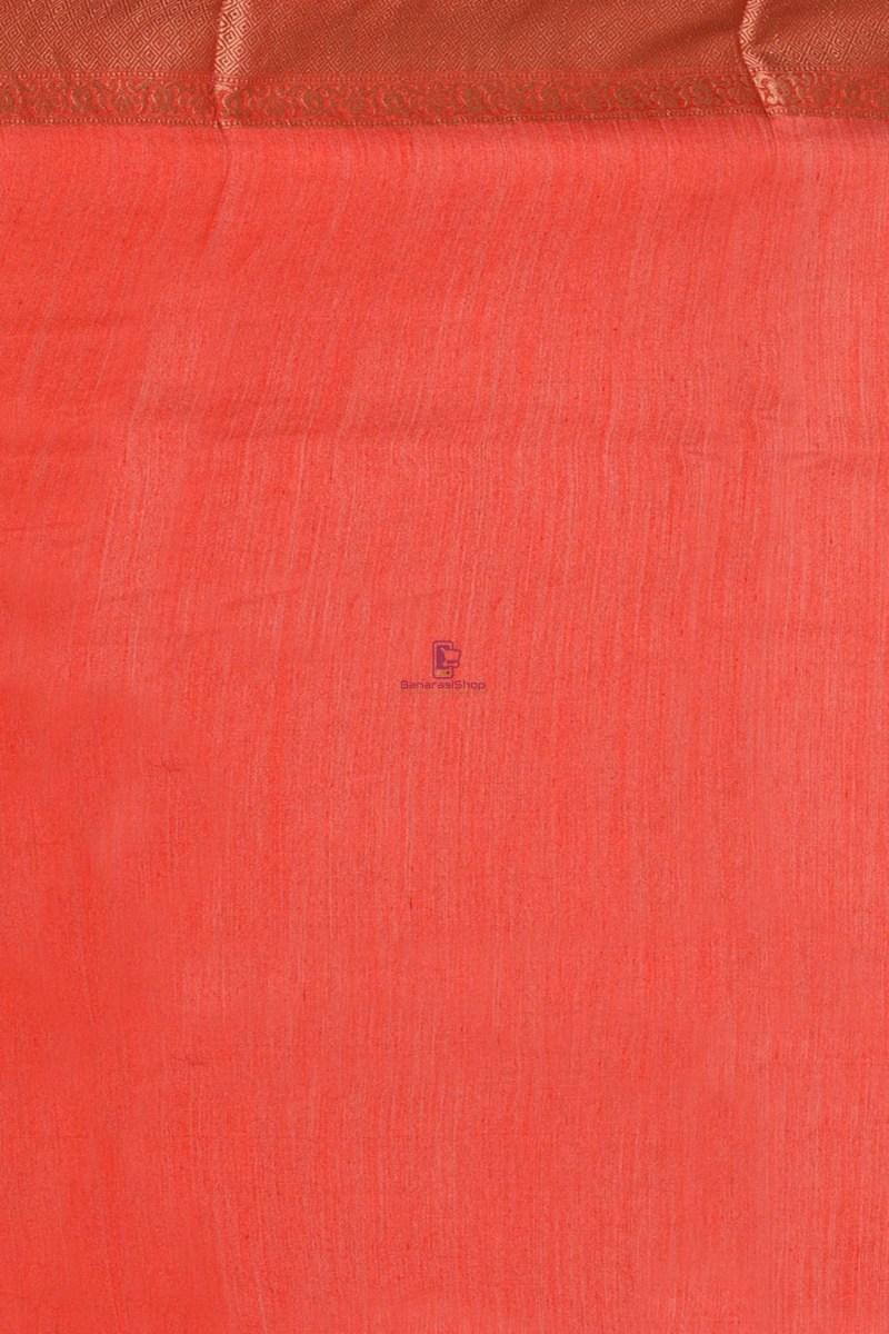 Pure Woven Banarasi Muga Silk Saree with Unstitched Blouse Fabric 4