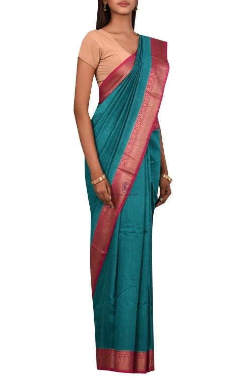 Pure Woven Banarasi Muga Silk Saree with Unstitched Blouse Fabric 6