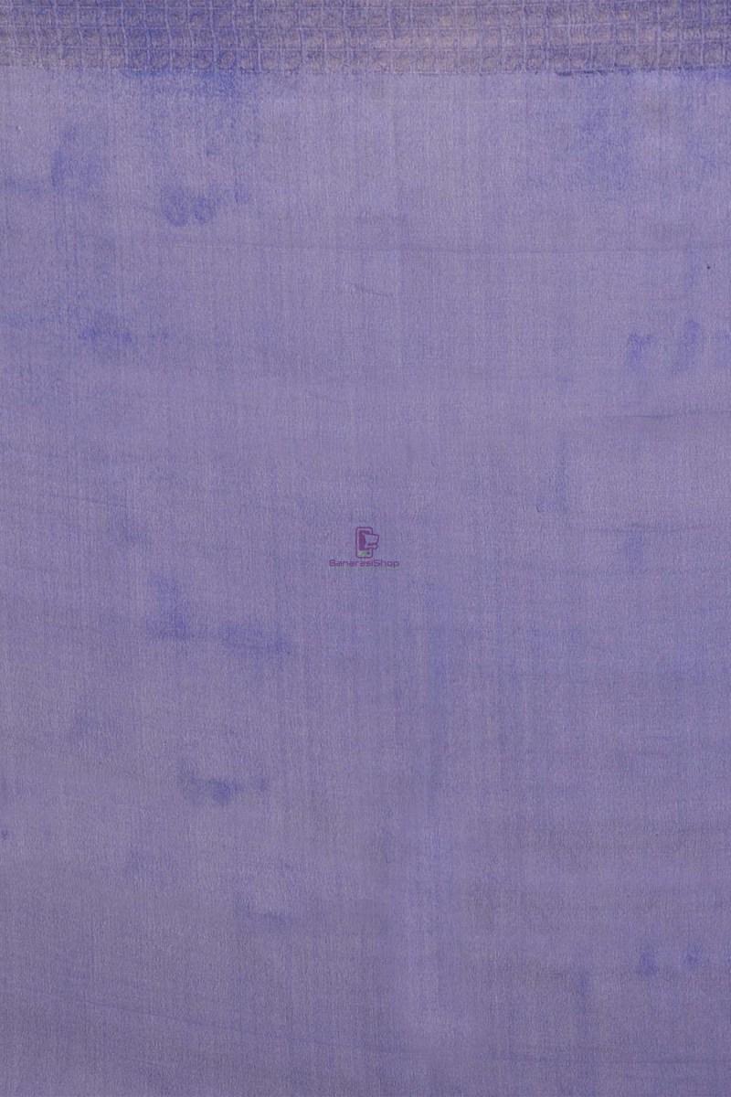 Banarasi Pure Chiffon Silk Saree with Unstitched Blouse Fabric 4