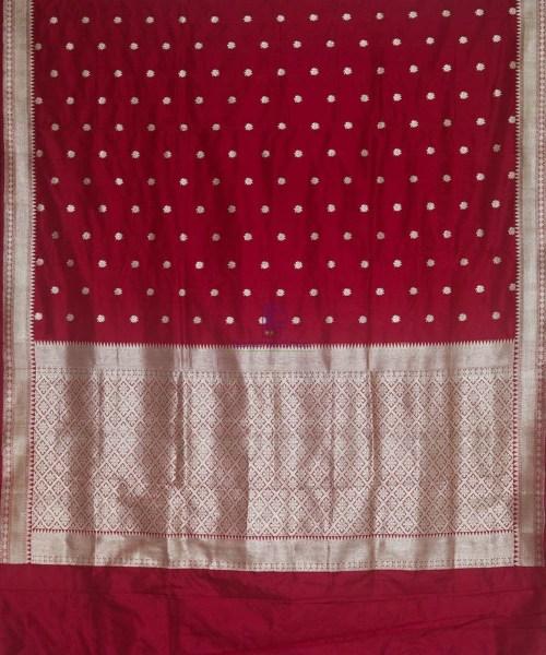 Banarasi Pure Katan Silk Handloom Maroon Saree 5