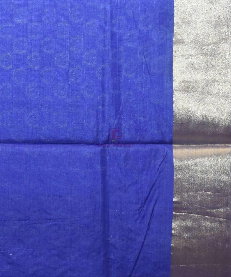 Woven Pure Tussar Silk Banarasi Saree in Azure Blue 4