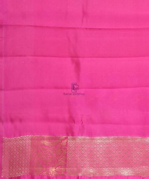 Pure Silk Banarasi Dupion Katan Handloom Saree in Magenta 7