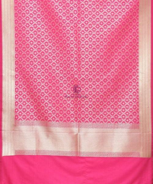 Woven Banarasi Art Silk Dupatta in Magenta 3