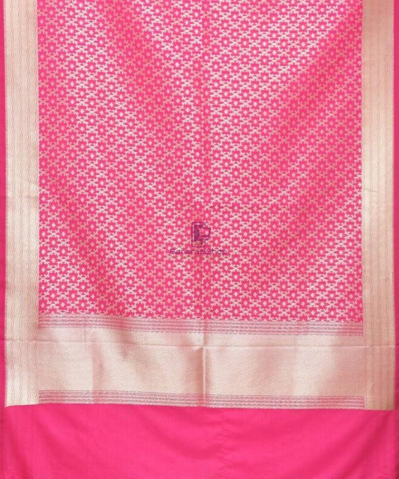 Woven Banarasi Art Silk Dupatta in Magenta 2
