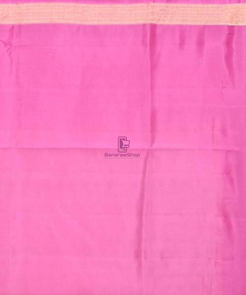 Pure Silk Banarasi Dupion Katan Handloom Saree in Off White 7