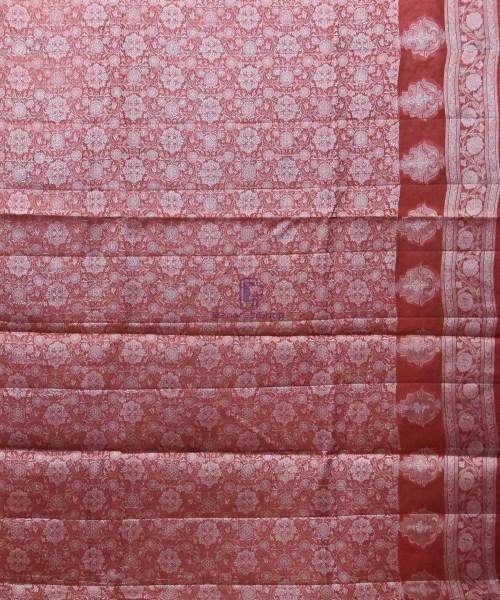 Woven Pure Tussar Silk Banarasi Saree in Mustard Yellow 7
