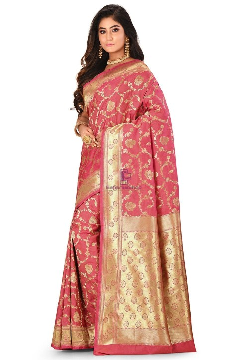 Banarasi Saree in Pink 7
